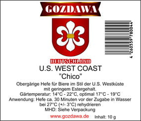 "Gozdawa Bierhefe U.S. West Coast USWC ""Chico"" 10g"