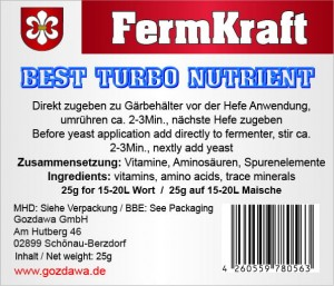Best Turbo Nutrient 25g